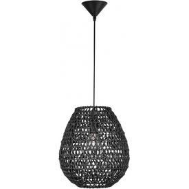 Lombok 30 black boho rattan pendant lamp