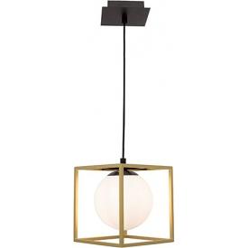Stylowa Lampa wisząca szklana glamour Stella 18 mosiężno-biała do kuchni, jadalni i salonu.