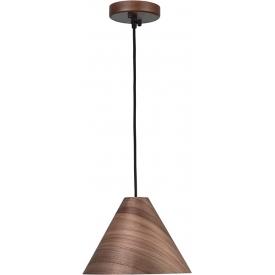 Lampa wisząca skandynawska Cone 25 orzechowa do sypialni i kuchni