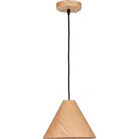 Lampa wisząca skandynawska Cone 25 jasne drewno do sypialni i kuchni