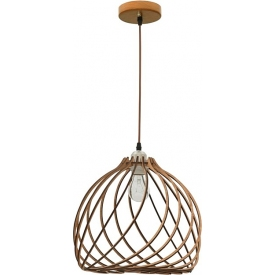 Wires 35 light wood wooden pendant lamp