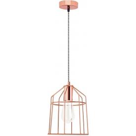 Dekoracyjna Lampa wisząca druciana Hugo 19 miedziana do salonu, kuchni i sypialni