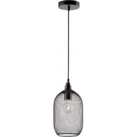 Dekoracyjna Lampa ażurowa wisząca Bottle 15 czarna do kawiarni i restauracji