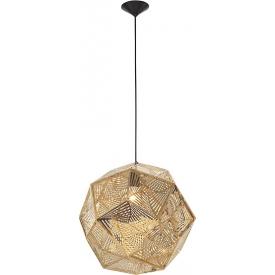 Dekoracyjna Lampa wisząca ażurowa geometryczna Bari 48 złota do kawiarni i restauracji