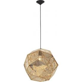 Dekoracyjna Lampa wisząca ażurowa geometryczna Bari 32 złota do kawiarni i restauracji