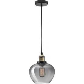 Stylowa Lampa wisząca szklana loft Tamigo 18 czarna do kuchni i jadalni