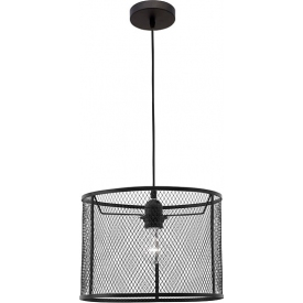Dekoracyjna Lampa wisząca ażurowa loft Tikka 30 czarna do kawiarni i restauracji