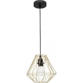 Dekoracyjna Lampa wisząca druciana Helen 23 mosiężna do salonu, kuchni i sypialni