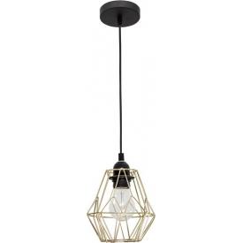 Dekoracyjna Lampa wisząca druciana Helen 15 mosiężna do salonu, kuchni i sypialni