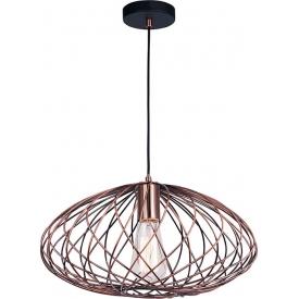 Dekoracyjna Lampa wisząca druciana loft Roberto 40 miedziana do salonu, kuchni i sypialni
