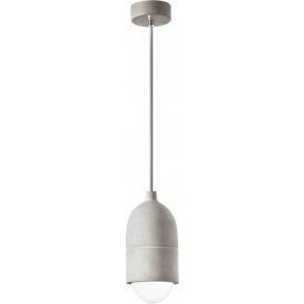 Stylowa Lampa betonowa wisząca Slip 10 szara do kuchni i jadalni