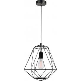 Dekoracyjna Lampa wisząca druciana geometryczna Trad 35 czarna do salonu, kuchni i sypialni