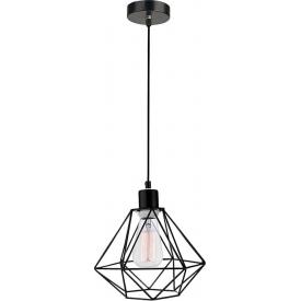 Dekoracyjna Lampa wisząca druciana geometryczna Trad 20 czarna do salonu, kuchni i sypialni