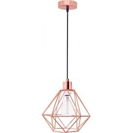 Stylowa Lampa miedziana wisząca geometryczna Trad 20 do kuchni i jadalni