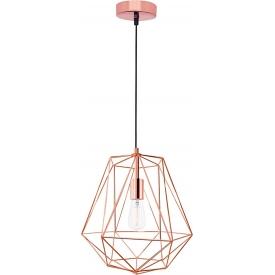 Stylowa Lampa miedziana wisząca geometryczna Trad 35 do kuchni i jadalni