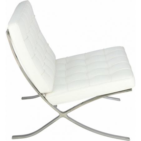 Designerski Fotel Barcelon Eco Biały D2.Design do salonu i sypialni.