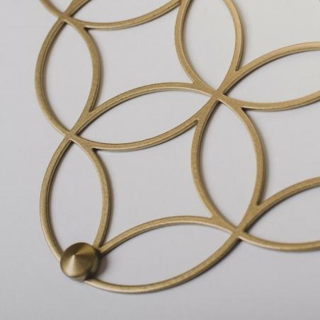 Holo M gold decorative wall shelf Polyhedra