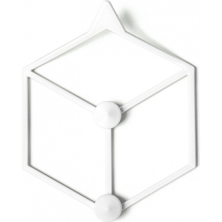 Stiga XS white metal wall hook Polyhedra