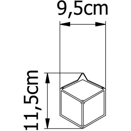 Stiga XS white metal wall hook Polyhedra