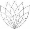 Stylowy Wieszak metalowy ścienny Lotos M biały Polyhedra na ubrania do przedpokoju i poczekalni.