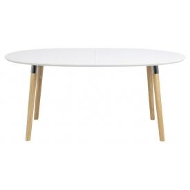 Stylowy Stół skandynawski rozkładany Belina Wood 170x100 Biały Actona do jadalni, kuchni i salonu.
