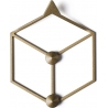 Stiga XS gold metal wall hook Polyhedra