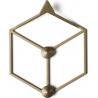 Stylowy Wieszak ścienny metalowy Stiga XS złoty Polyhedra na ubrania do przedpokoju i poczekalni.