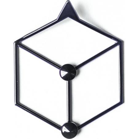 Stiga XS black metal wall hook Polyhedra