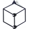 Stiga XS black metal wall hook Polyhedra