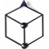 Stylowy Wieszak ścienny metalowy Stiga XS czarny Polyhedra na ubrania do przedpokoju i poczekalni.