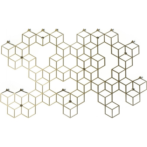 Stiga XL gold metal wall hook Polyhedra