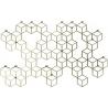 Stiga XL gold metal wall hook Polyhedra