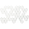 Stiga XL white metal wall hook Polyhedra