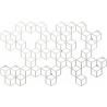 Stylowy Wieszak ścienny metalowy Stiga XL biały Polyhedra na ubrania do przedpokoju i poczekalni.