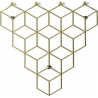 Stiga S gold metal wall hook Polyhedra