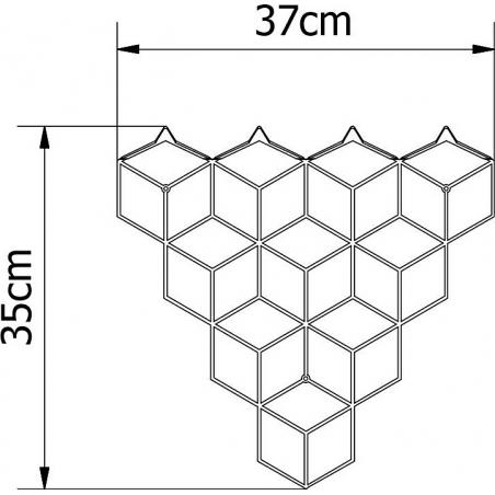 Stiga S gold metal wall hook Polyhedra