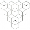 Stiga S white metal wall hook Polyhedra