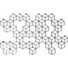 Stylowy Wieszak ścienny metalowy Stiga XL czarny Polyhedra na ubrania do przedpokoju i poczekalni.