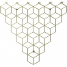 Stiga M gold metal wall hook Polyhedra