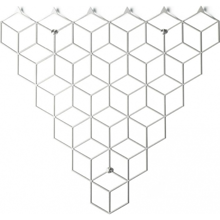 Stiga M white metal wall hook Polyhedra