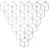 Stylowy Wieszak ścienny metalowy Stiga M biały Polyhedra na ubrania do przedpokoju i poczekalni.