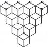 Stylowy Wieszak ścienny metalowy Stiga S czarny Polyhedra na ubrania do przedpokoju i poczekalni.