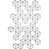 Stylowy Wieszak ścienny metalowy Stiga L czarny Polyhedra na ubrania do przedpokoju i poczekalni.