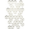Stiga L gold metal wall hook Polyhedra