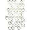 Stiga L gold metal wall hook Polyhedra