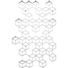 Stylowy Wieszak ścienny metalowy Stiga L biały Polyhedra na ubrania do przedpokoju i poczekalni.