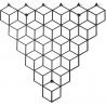 Stiga M black metal wall hook Polyhedra