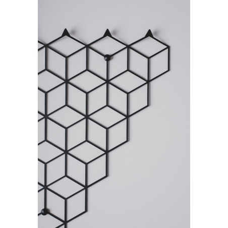 Stiga M black metal wall hook Polyhedra