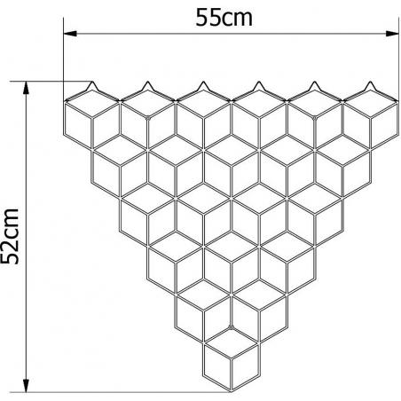 Stylowy Wieszak ścienny metalowy Stiga M czarny Polyhedra na ubrania do przedpokoju i poczekalni.