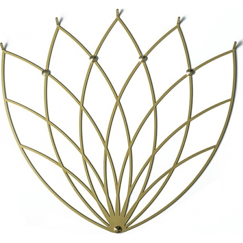 Lotos M gold metal wall hook Polyhedra